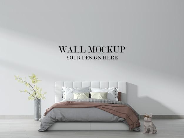 Jasna i nowoczesna makieta ścienna do sypialni