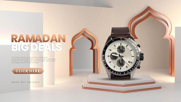 Jasne białe złoto ramadan sprzedaż podium