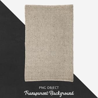 Jasnobrązowa tkanina na przezroczystym tle