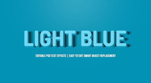 Jasnoniebieski efekt tekstowy premium psd