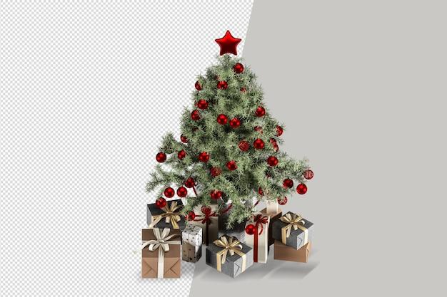 Jasnozielone pudełko na prezenty choinkowe