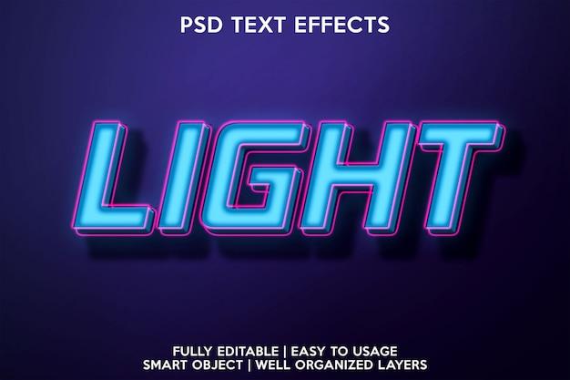 Jasny efekt tekstowy