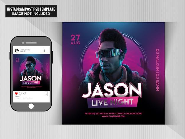 Jason live party flyer