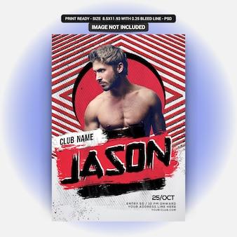 Jason party flyer