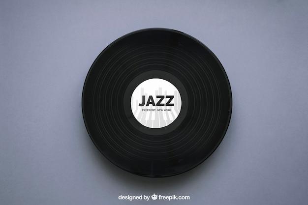 Jazzowy makieta winylu