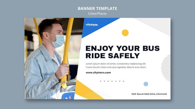 Jedź bezpiecznie szablon banera