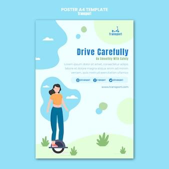 Jedź ostrożnie szablon plakatu