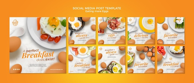 Jedzenie większej ilości jajek post w mediach społecznościowych