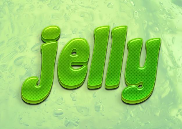 Jelly green 3d font effect