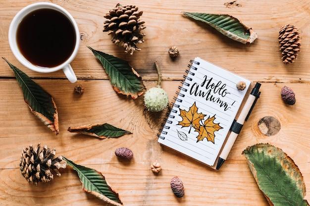 Jesień makieta z notatnika