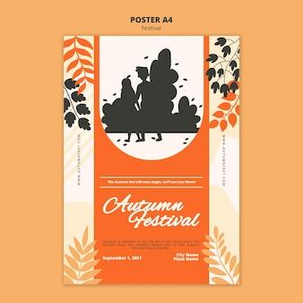 Jesienny plakat świąteczny