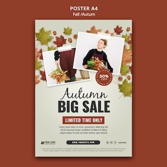 Jesienny szablon projektu plakatu