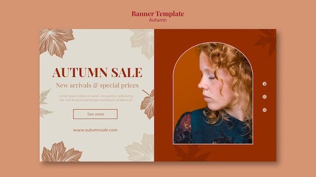 Jesienny szablon projektu sprzedaży banerów