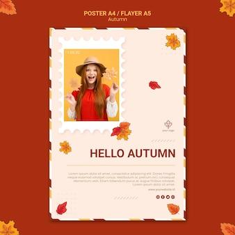 Jesienny szablon ulotki reklamowej