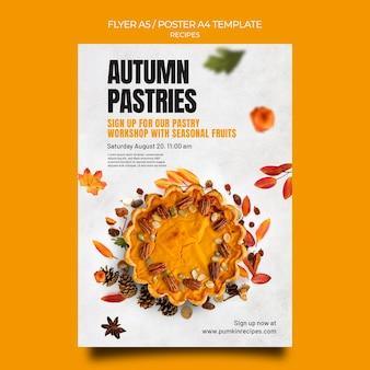 Jesienny szablon ulotki z przepisami