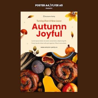 Jesienny szablon wydruku ze zdjęciem