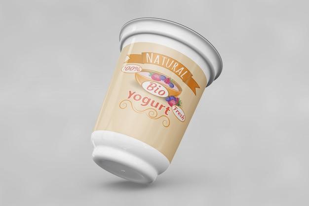 Jogurt opakowania mockup