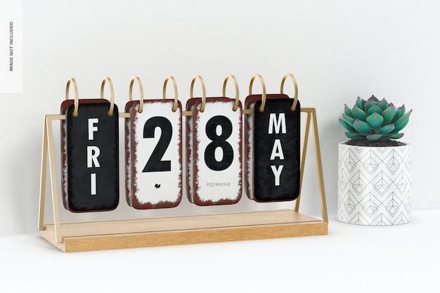 Kalendarz na biurko w stylu vintage z makietą garnków