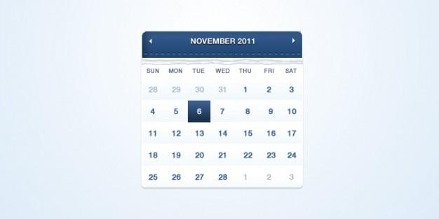 Kalendarz psd