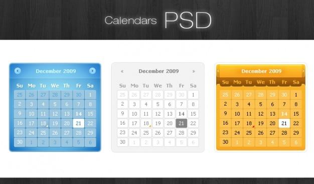 Kalendarze psd