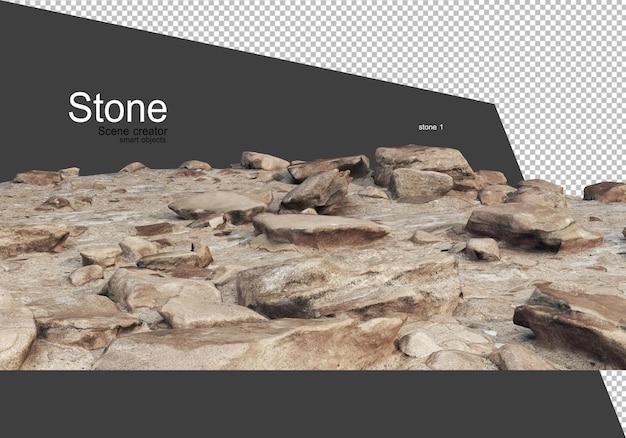 Kamienie z różnych naturalnych krajobrazów
