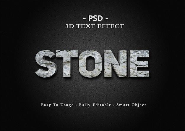 Kamienny efekt stylu tekstu 3d