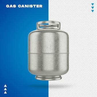 Kanister z gazem w renderowaniu 3d na białym tle