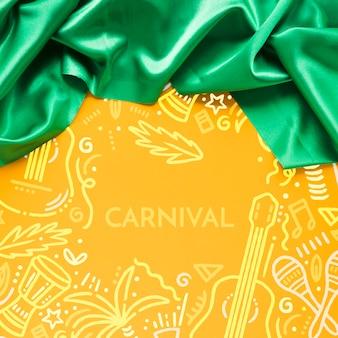 Karnawałowa zielona tkanina