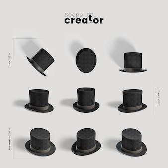 Karnawałowy kapelusz magika twórcy scen