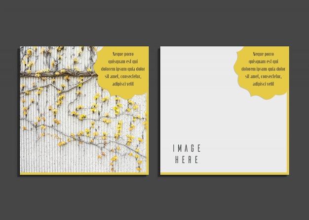 Karta creative z pięknym projektem fotografii