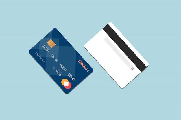 Karta debetowa, karta kredytowa, makieta karty inteligentnej