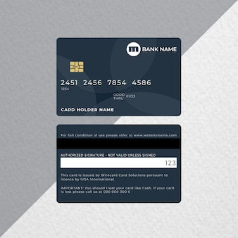 Karta kredytowa lub karta bankowa