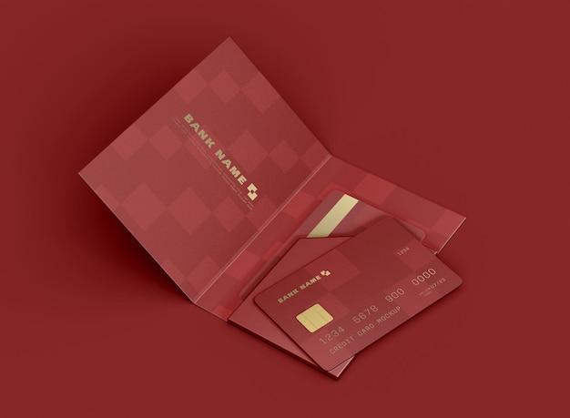 Karta kredytowa w folderze makieta