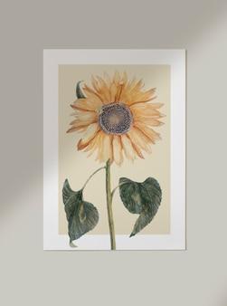 Karta kwiatowy makieta