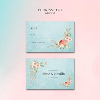 Karta piękny ślub kwiatowy zaproszenie
