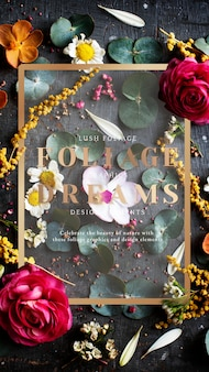Karta z motywem kwiatowym