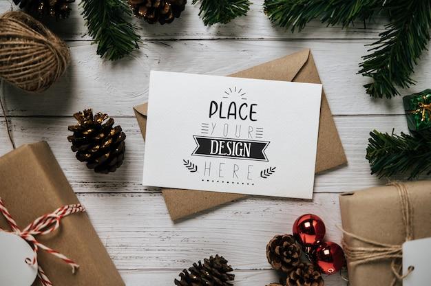 Kartkę z życzeniami wesołych świąt psd