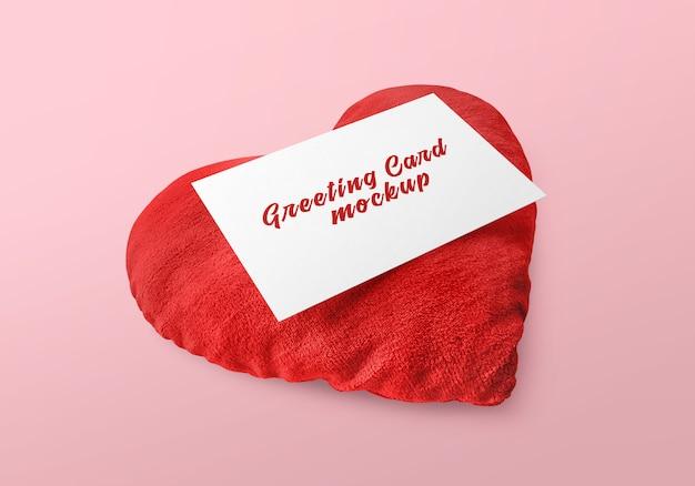 Kartkę z życzeniami z makieta serca