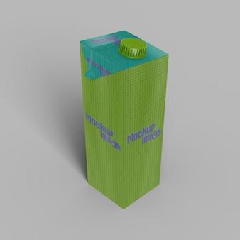 Karton na mleko z makietą zakrętki