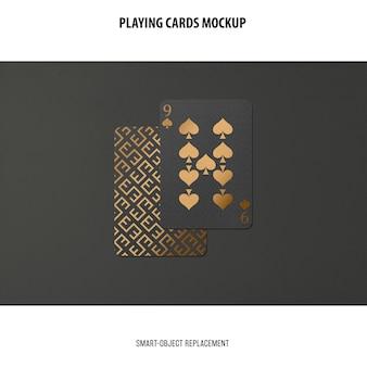Karty do gry z makietą złotej folii