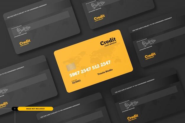 Karty kredytowe. makieta kart podarunkowych