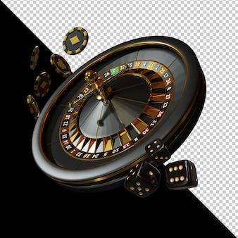 Kasyno royal night event 3d render kompozycja