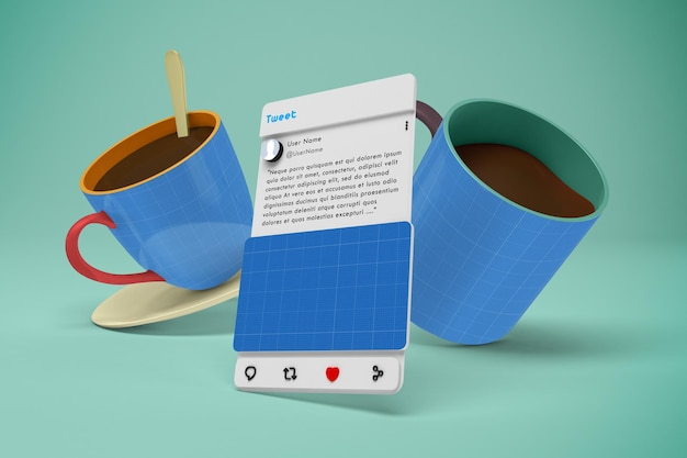 Kawiarnia social media