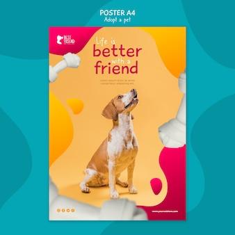 Każde zwierzę potrzebuje szablonu plakatu domowego