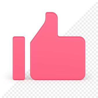 Kciuk w górę ikona 3d