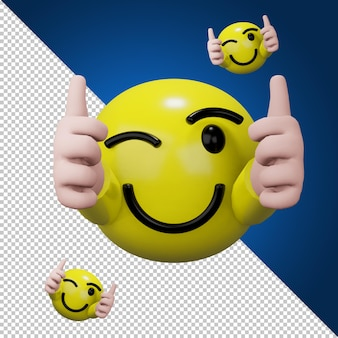 Kciuk w górę ikonę mediów społecznościowych w renderowaniu 3d