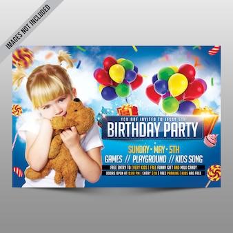Kids birthday party flyer