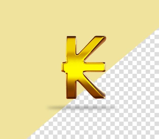 Kip znak złote renderowanie ikona