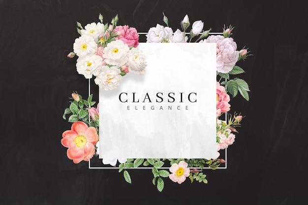 Klasyczna elegancka rama kwiatowa