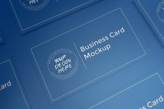 Klasyczna niebieska makieta wizytówki